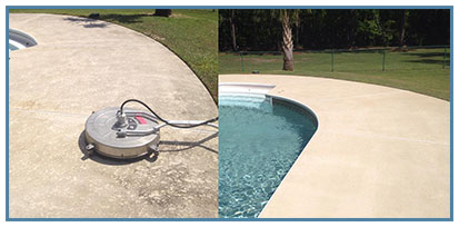 Pool Deck Before and After