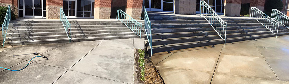 Commercial Pressure Washing | Stairs | Concrete | Aiken